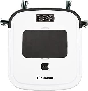 エスキュービズム超薄型床用 ロボット掃除機 ホワイト 薄さ3.2センチ SCC-R01W
