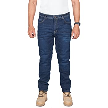 gratuitement protecteurs Jeans de Kevlar moto dhommes de qualit/é Premium Straight Fit 34W X 30L HB Moto hommes Jeans