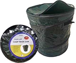 Oswego Pop-Up Collapsible Travel Camping Garbage Trash Recycle Cans, 30 Gallon (Dark Green, 1)