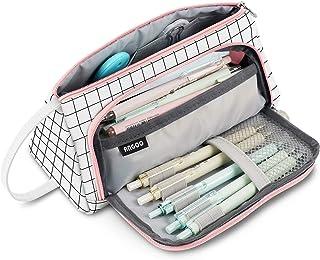 Trousse à Crayons Grande Capacité Porte-crayons à Stylos Trousse à Maquillage Organisateur de Rangement de Fournitures ave...