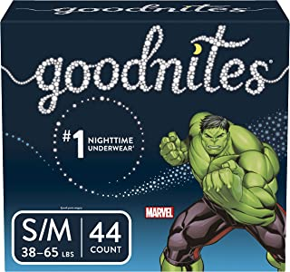 Goodnites Bedwetting Underwear for Boys, S/M, 44 Ct, Discreet