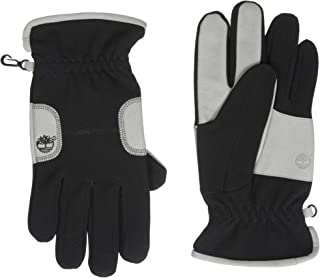 mens fleece gloves with palm grip