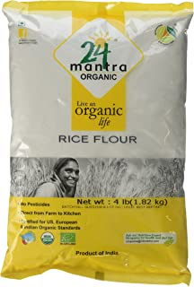 24 Mantra Organic Rice Flour 4 lb, White (Packaging May Vary)