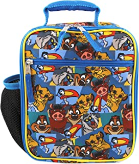 The Lion King Boy's Girl's Soft Insulated School Lunch Box (Blue, One Size)