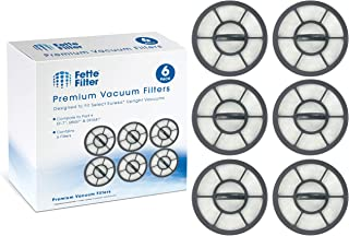 Fette Filter - Exhaust Vacuum Filter Compatible with Eureka Airspeed EF-7 Models AS3001A, AS3008A, AS3011A, AS3030A, AS3033A. Compare to Part # 091541 (6-Pack)