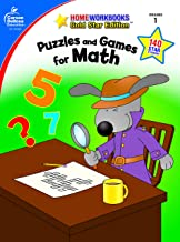 Puzzles and Games for Math, Grade 1 (Home Workbooks)