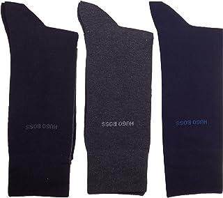 HUGO_BOSS, Calcetines de hombre Hugo Boss, 3 unidades, color negro 3 Colour Pack (Black/Grey/Navy) 8.5-11 (UK)/ 43-46 (EU)