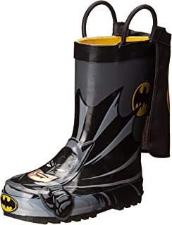 Kids' Waterproof D.c. Comics Character Rain Boots with Easy on Handles