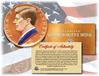 jfk bronze coin