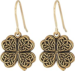 Alex and Ani - Four Leaf Clover Hook Earrings