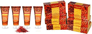 Vaadi Herbals Value Pack of Skin Whitening Saffron Face Wash with Sandal Extract, 4 x 60ml and Vaadi Herbals Super Value Luxurious Saffron Skin Whitening Therapy Soap, 75g (Pack Of 6)