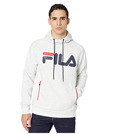 Fila Ezra Tech Hoodie (Light Grey Marl/Peacoat/Chinese Red) Men