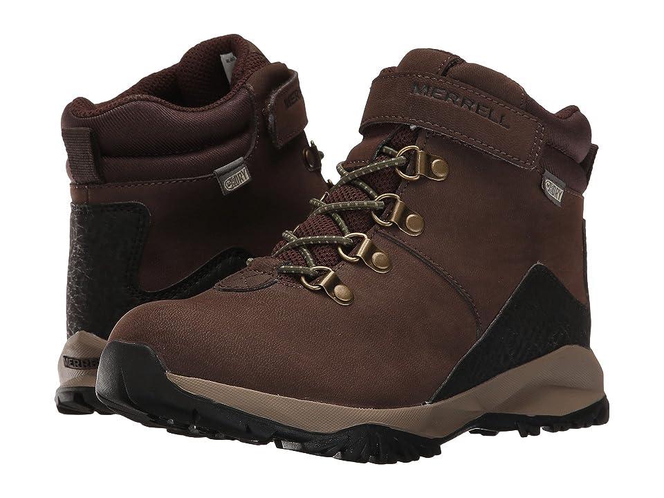 Merrell Kids Alpine Casual Boot Waterproof (Toddler/Little Kid) (Brown) Boys Shoes