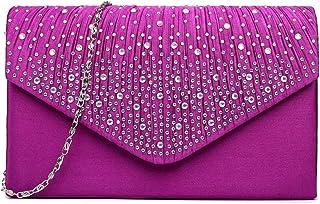 حقيبة يد للسيدات من Miss Lulu Ladies Diamante للسهرة للسهرة