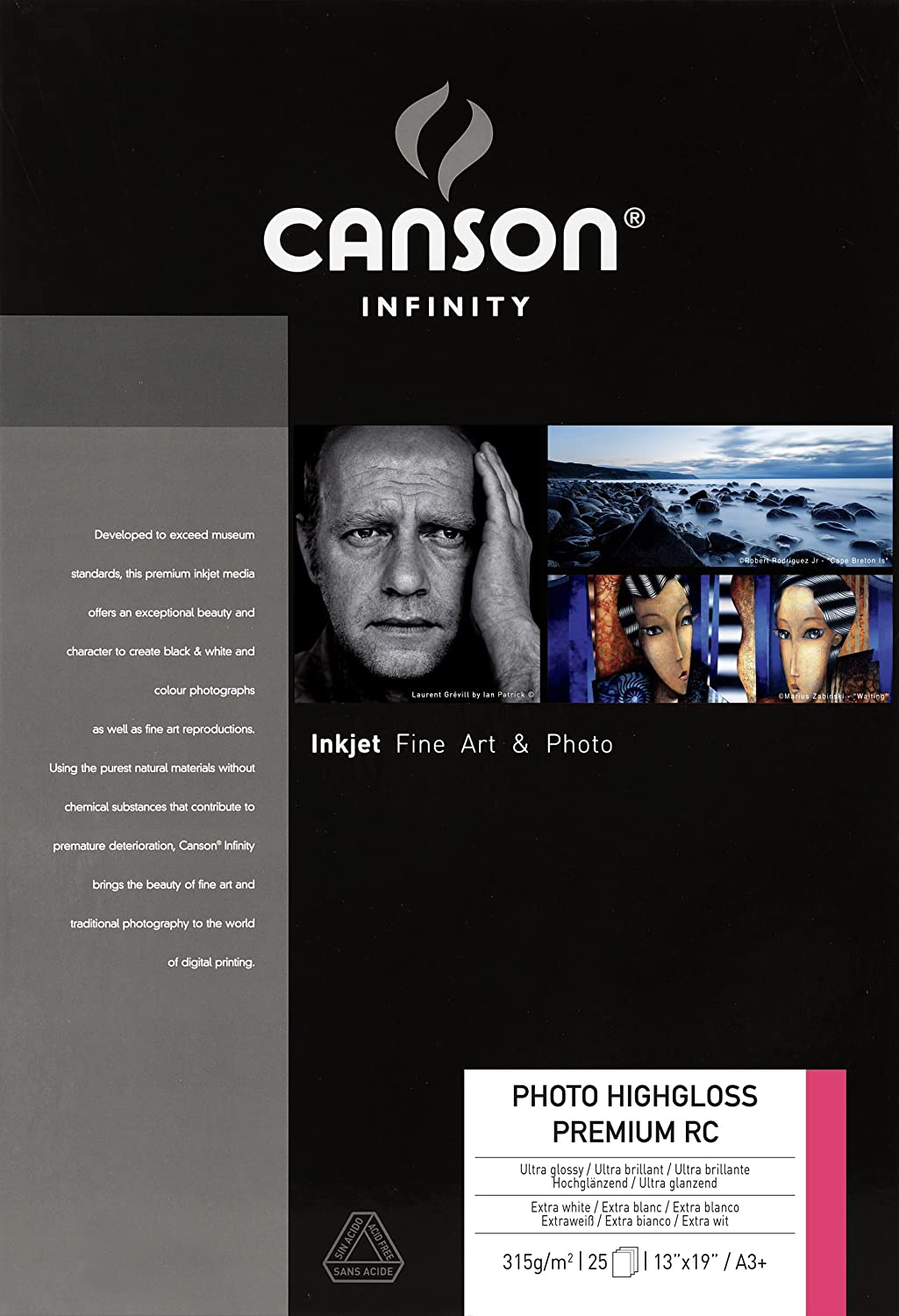 Canson Ranking TOP18 Infinity Photo HighGloss Mail order Premium GSM 315 high RC Smooth