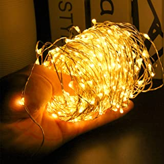24HOCL 200 LEDs Starry Fairy Lights String Lights USB Powered, Bendable Copper Twinkle Lights with Brightness Dimmer for B...