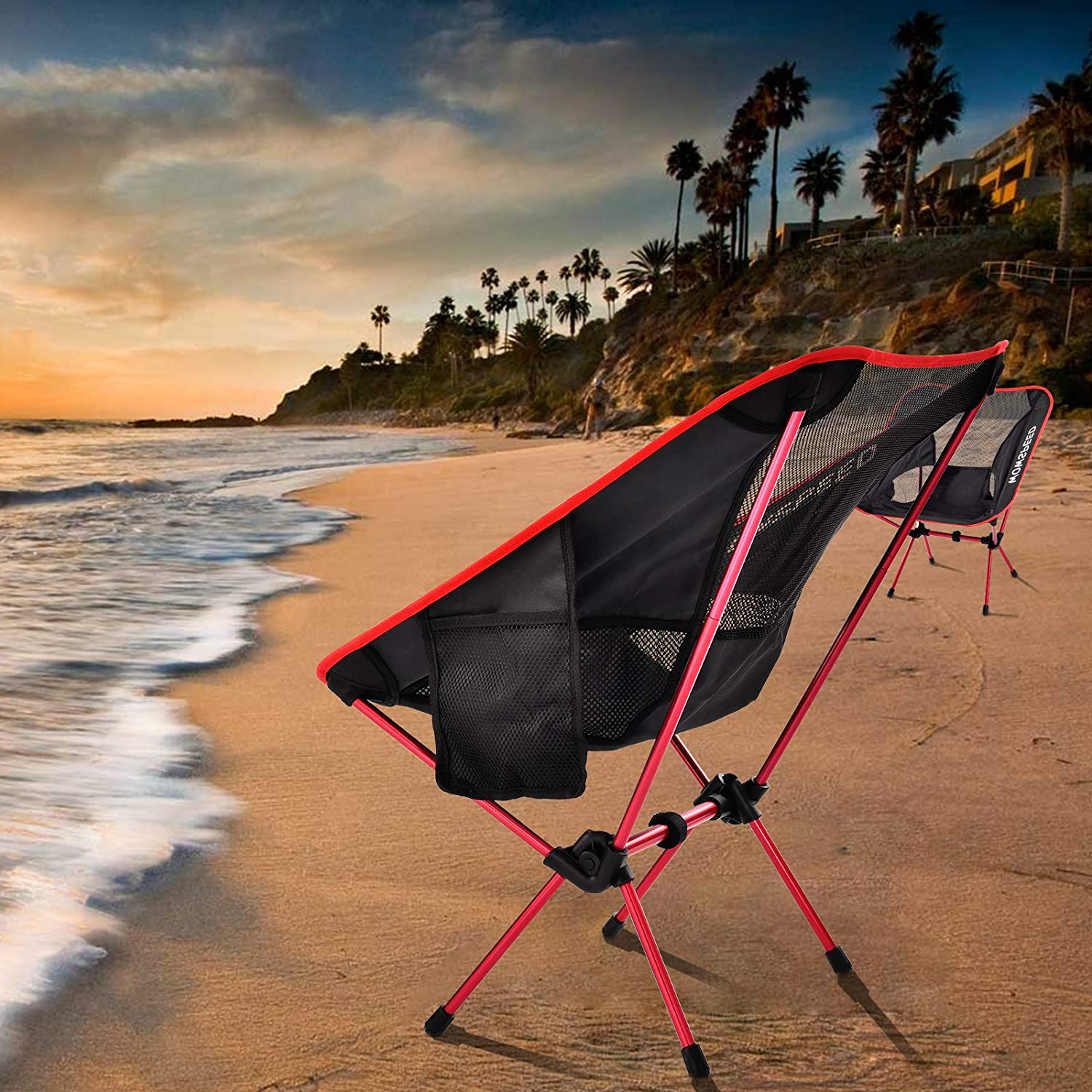 adjustable height for outdoor camping Black beach camping chairs foldable foldable folding chairs up to 120 kg hiking CosHall camping chairs with carrying bag backpacking trips picnics trips