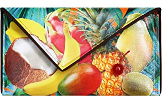 Kent Stetson Tropical Fruit Clutch w/Crossbody Chain