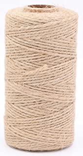 LeBeila Natural Jute Twine String – 2 ply Hemp Cord Industrial Packing Rope Durable Materials Heavy Duty Decorative String For Garden Arts Crafts Gift Bakers Butcher Clothespins Tags (328 Feet, Brown)
