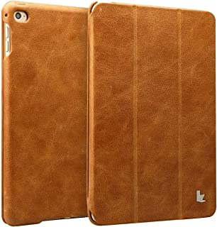 JISONCASE iPad Mini 4 Case, Leather Ultra Slim Smart-Shell Stand Cover Case with Auto Wake/Sleep for Apple iPad Mini 4 (JS-IM4-01A) (Vintage Brown)