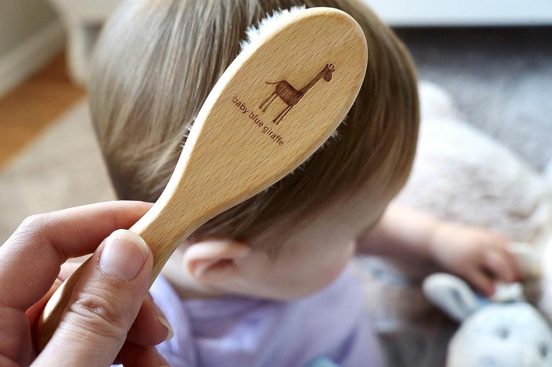 ティーレックス baby blue giraffe 赤ちゃんの髪の毛と頭皮にやさしい ベビーヘアブラシ
