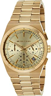 Michael Kors Women's Quartz Watch with Chronograph Quartz Stainless Steel Coated MK5926