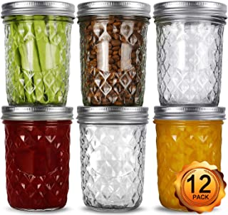 Wide Mouth Mason Jars 16oz, VERONES 12 Pack 16 oz Wide Mouth Mason Jars with Lids and Bands, Ideal for Jam, Honey, Wedding...