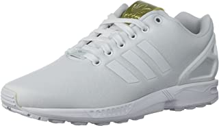 Women's Zx Flux Running Shoe, White/Metallic Gold, 11 Medium US