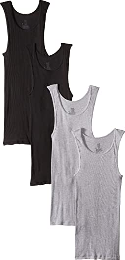 4-Pack Core Cotton Platinum Tank