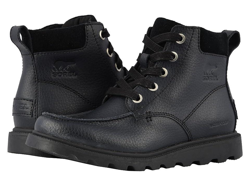 SOREL Kids Madsontm Moc Toe Waterproof (Little Kid/Big Kid) (Black) Boys Shoes
