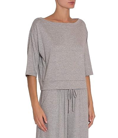 Eberjey Darby Utility Short Sleeve Top (Heather Grey) Women