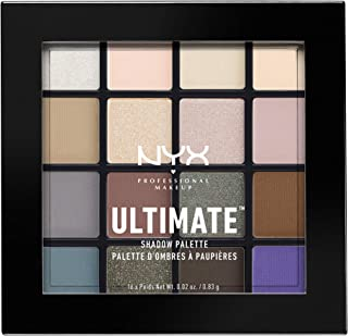NYX PROFESSIONAL MAKEUP Ultimate Shadow Palette, Eyeshadow Palette, Cool Neutrals (1 Count)