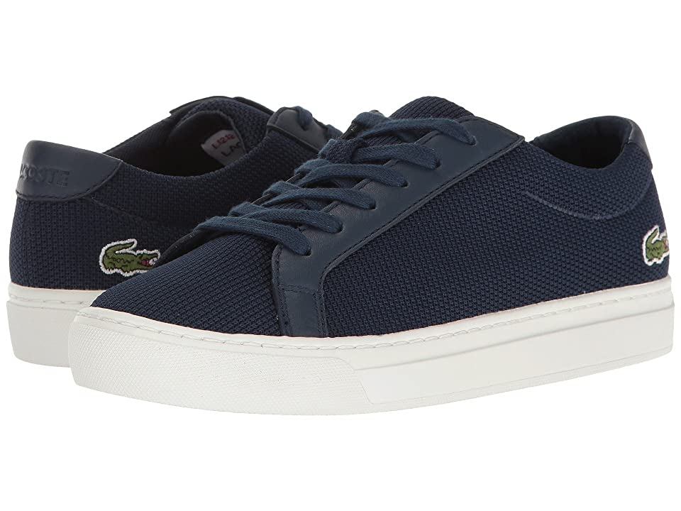 Lacoste Kids L.12.12 (Little Kid/Big Kid) (Navy) Kids Shoes