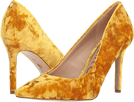 Tuscan Yellow Lux Crushed Velvet