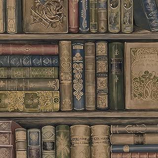 Norwall LL29570 Bookcase Wallpaper