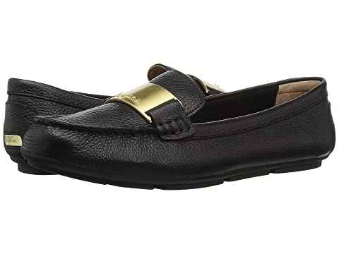 Klein Glazed Tumbled Loafer Black Calvin Lisette B0Yndd