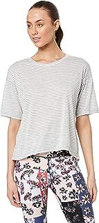 Calvin Klein Women's Performance Half Sleeve T-Shirt with Back Split