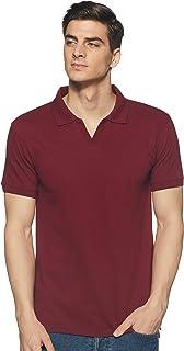Amazon Brand - Symbol Men's Solid Regular fit Polo (JC-Single_Pomegranate_XL)