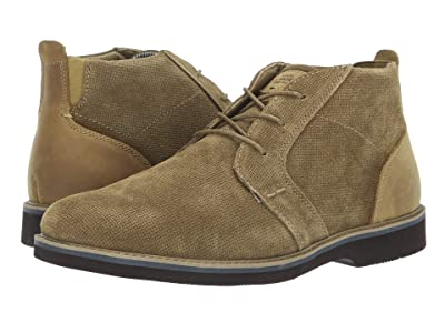 Nunn Bush Barklay Plain Toe Chukka (Camel Multi Emboss) Men