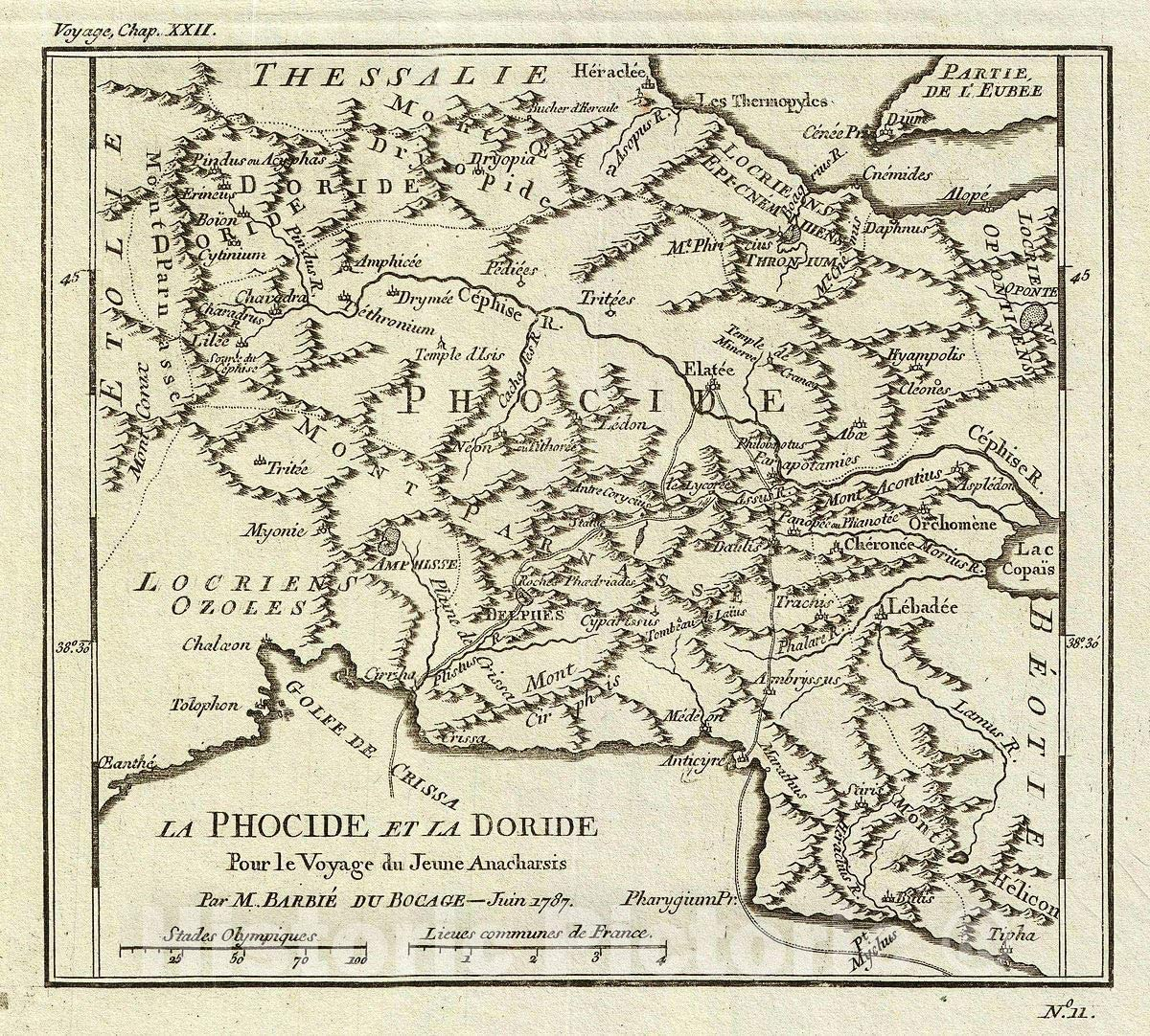 Historic Map - wholesale Bocage Antique of Ancient Phocis and Max 46% OFF G Doris