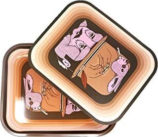 RAW Rolling Tray (Large) + Tray Cover by Artist J.Fish   Rolling Tray with Decorative Art and Discreet Cover to Conceal Contents