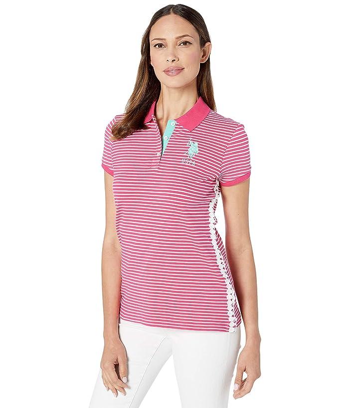 U.S. POLO ASSN. Stripe w/ Lace Side Polo