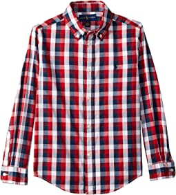 Cotton Madras Shirt (Little Kids/Big Kids)