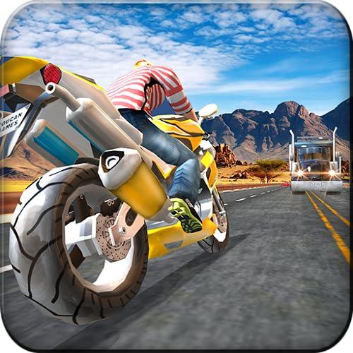 Moto Racer Drifting Simulator Misión de Aventura: Extreme Highway Traffic Bike Rider Juegos de carreras gratis para niños 2018