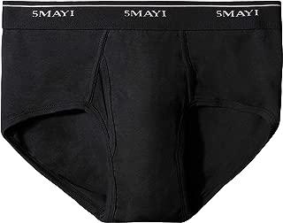 ASTEORRA Mens Briefs Underwear Black Cotton Mid-Rise Mens Underwear Briefs for Men Pack