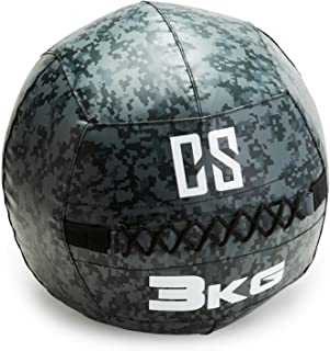 CapitalSports Restricamo Balón Medicinal PVC 3 Kg (Entrenamiento del Core, Funcional y Cross, Resistente Acabado Robusto, Cosido Doble) - Camuflaje