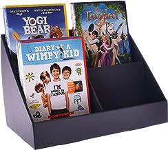Stand-Store c4p cuatro bolsillo cartón/tarjetas de felicitación del punto de venta de la pantalla soporte para CD/DVD, color negro