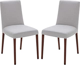 Rivet Contemporary Square-Back Armless Dining Chair, 34