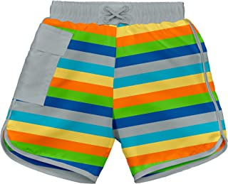 i play. Boys Pocket Board Shorts W/Built-in Reusable Absorbent Swim Diaper