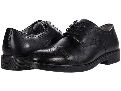 Johnston & Murphy Maddox Cap Toe (Black Full Grain Waterproof Leather) Men